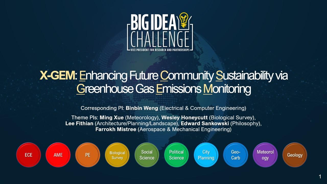 XGEM Big Idea Challenge Grant